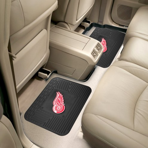 Detroit Red Wings Vinyl 2-Piece Rear Floor Mats