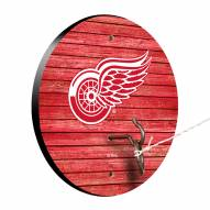 Detroit Red Wings Weathered Design Hook & Ring Game
