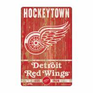 Detroit Red Wings Slogan Wood Sign