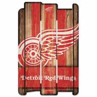 Detroit Red Wings Wood Fence Sign
