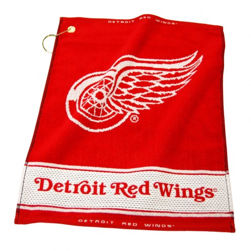 Detroit Red Wings Woven Golf Towel