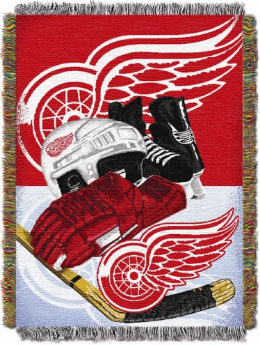 Detroit Red Wings Woven Tapestry Throw Blanket