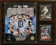 """Detroit Tigers 12"""" x 15"""" All-Time Great Photo Plaque"""