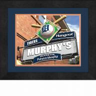 Detroit Tigers 13 x 16 Personalized Framed Sports Pub Print
