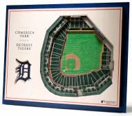 Detroit Tigers 5-Layer StadiumViews 3D Wall Art