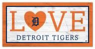 "Detroit Tigers 6"" x 12"" Love Sign"