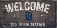"""Detroit Tigers 6"""" x 12"""" Welcome Sign"""
