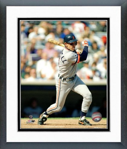 Detroit Tigers Alan Trammell Batting Framed Photo