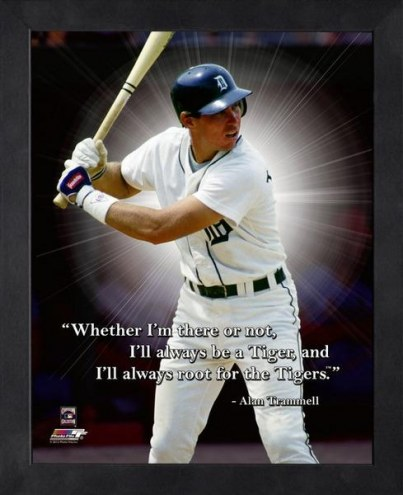 Detroit Tigers Alan Trammell Framed Pro Quote