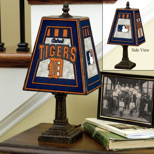 Detroit Tigers Art Glass Table Lamp