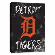 Detroit Tigers Grunge Printed Canvas