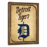 Detroit Tigers Vintage Card Recessed Box Wall Decor