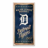 Detroit Tigers Watercolor Printed Canvas
