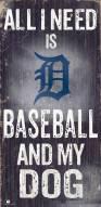 Detroit Tigers Baseball & My Dog Sign