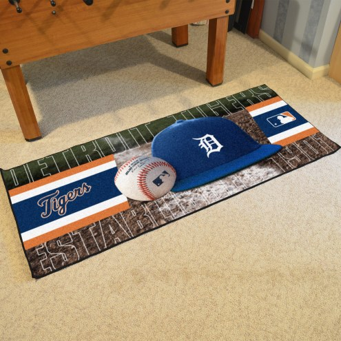 Detroit Tigers Baseball Runner Rug