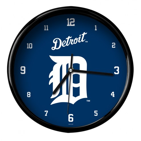 Detroit Tigers Black Rim Clock