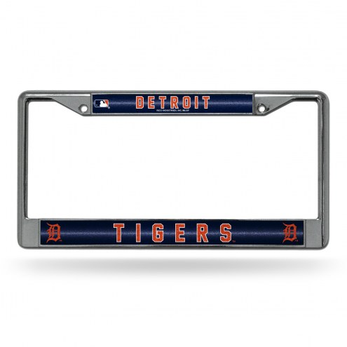 Detroit Tigers Bling Chrome License Plate Frame