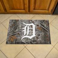 Detroit Tigers Camo Scraper Door Mat