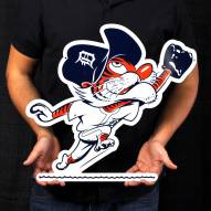 "Detroit Tigers Catcher Kitty 24"" Steel Logo Sign"