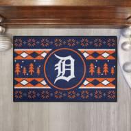 Detroit Tigers Christmas Sweater Starter Rug