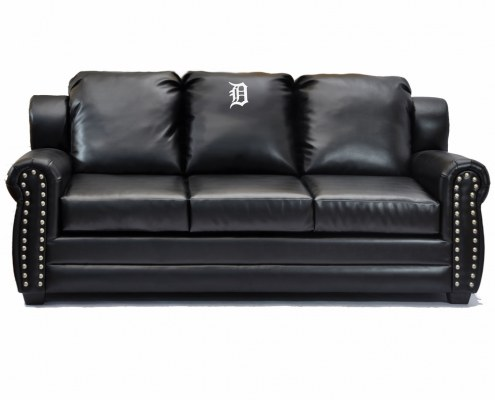 Detroit Tigers Coach Leather Sofa