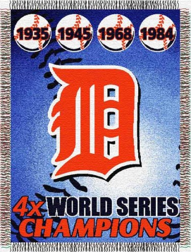 Detroit Tigers Commemorative Throw Blanket