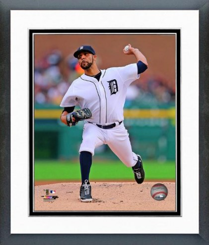 Detroit Tigers David Price Action Framed Photo