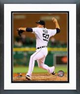 Detroit Tigers Evan Reed Action Framed Photo