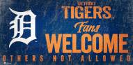 Detroit Tigers Fans Welcome Sign