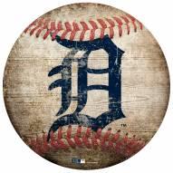 Detroit Tigers Baseball Shaped Sign