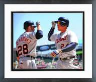 Detroit Tigers J.D. Martinez & Miguel Cabrera Action Framed Photo