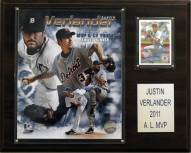 "Detroit Tigers Justin Verlander 2011 MVP 12"" x 15"" Player Plaque"