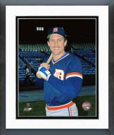 Detroit Tigers Lance Parrish Posed Framed Photo