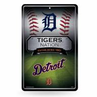 Detroit Tigers Large Embossed Metal Wall Sign