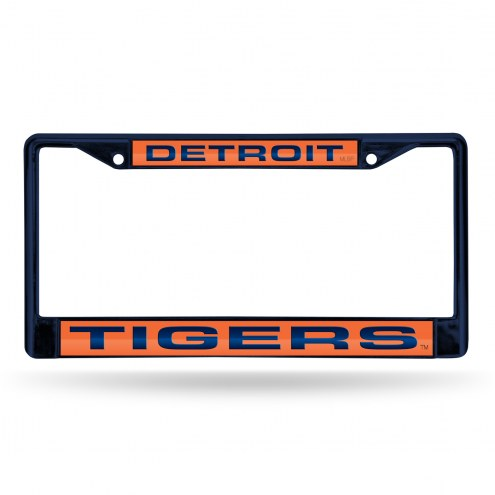 Detroit Tigers Laser Colored Chrome License Plate Frame