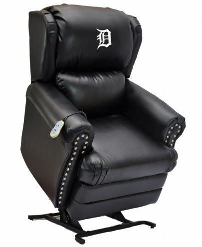 Detroit Tigers Leather Coach Lift Recliner