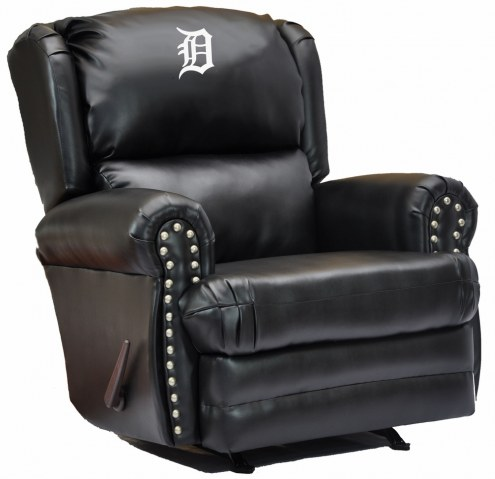 Detroit Tigers Leather Coach Recliner