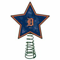 Detroit Tigers Light Up Art Glass Mosaic Tree Topper