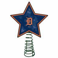 Detroit Tigers Light Up Art Glass Mosaic Tree Topper