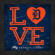 Detroit Tigers Love My Team Color Wall Decor