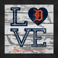 Detroit Tigers Love My Team Square Wall Decor
