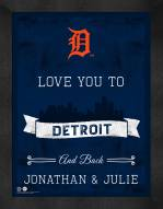 Detroit Tigers Love You to and Back Framed Print