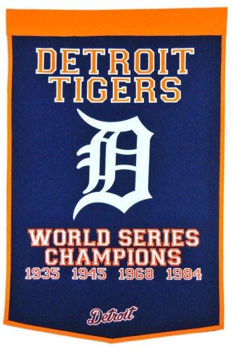 Detroit Tigers Major League Baseball Dynasty Banner