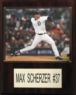 """Detroit Tigers Max Scherzer 12"""" x 15"""" Player Plaque"""