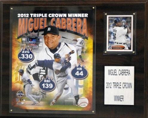 """Detroit Tigers Miguel Cabrera 2012 MVP 12"""" x 15"""" Player Plaque"""