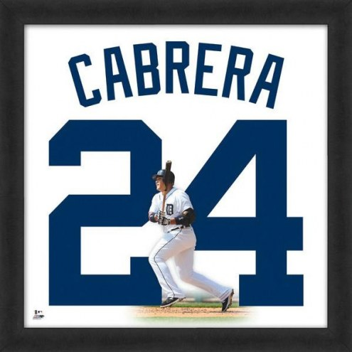 Detroit Tigers Miguel Cabrera Uniframe Framed Jersey Photo