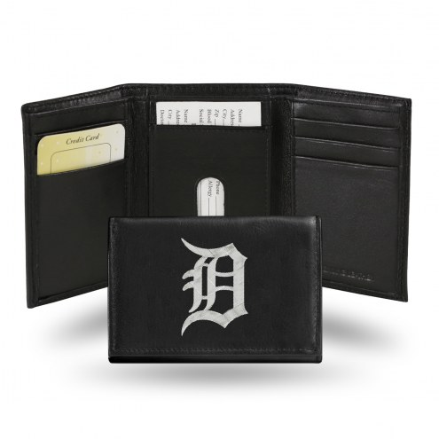 Detroit Tigers MLB Embroidered Leather Tri-Fold Wallet