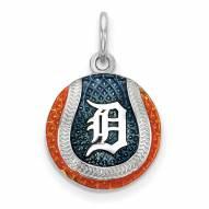 Detroit Tigers Sterling Silver Baseball Pendant