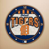 Detroit Tigers MLB Stained Glass Wall Clock
