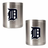 Detroit Tigers MLB Stainless Steel Can Holder 2-Piece Set